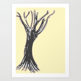 unblinking tree Art Print