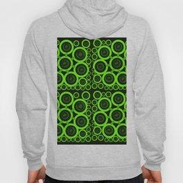 green rings on black background Hoody