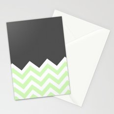 Color Blocked Chevron 15 Stationery Cards