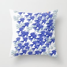 100 fishes Throw Pillow