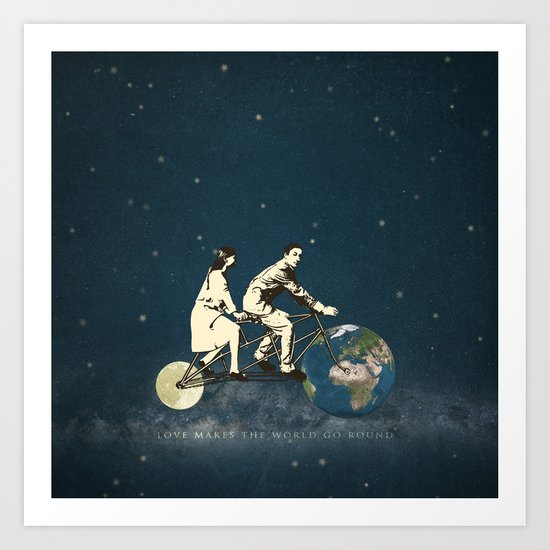 Love Makes The World Go Round Art Print