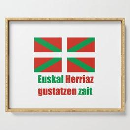Flag of Euskal Herria 4 Serving Tray