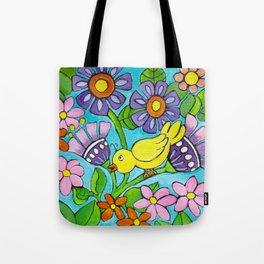Springtime Series #5 Singing Bird Tote Bag