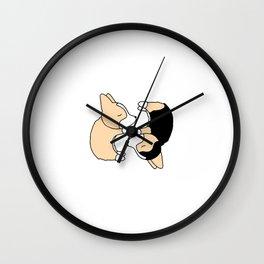 Corgi Dog Yin Yang Wall Clock
