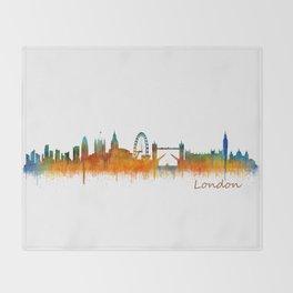 London City Skyline HQ v3 Throw Blanket