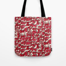 chinese animals red Tote Bag