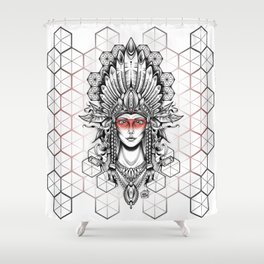 Geometric Indian Shower Curtain