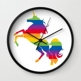 Gay Unicorn Wall Clock