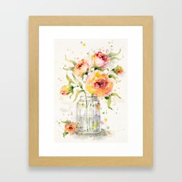 A Jar Of Joy (flowers) Framed Art Print