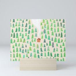 Alone in the woods Mini Art Print