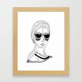 La muse Framed Art Print