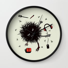 Relax And Rest Lazy Creature Wall Clock