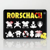 rorschach iPad Cases featuring Rorschach by Gabriel Freire