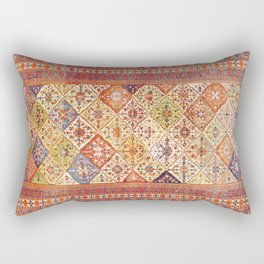 Tribal Persian Qashqai Antique Rug Rectangular Pillow