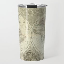 Vintage Map of The World (1787) Travel Mug
