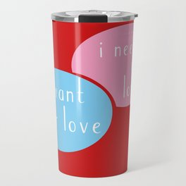i want your love – i need your love Travel Mug