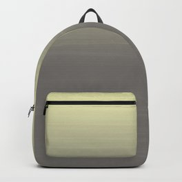 Yellow to gray ombre gradient painted appearance Backpack