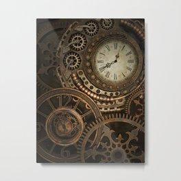 Steampunk Clockwork Metal Print