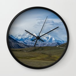 Mount McKinley Denali National Park Alaska Wall Clock