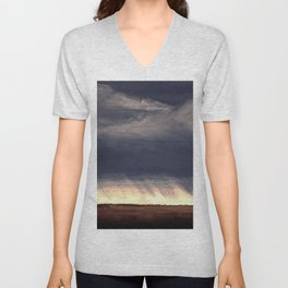 Storm Over Saskatchewan Fields Unisex V-Neck
