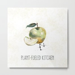 Plant-Fueled Kitchen Apple Metal Print