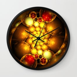 Dragon Eggs - Abstract Fractal Artwork Wall Clock