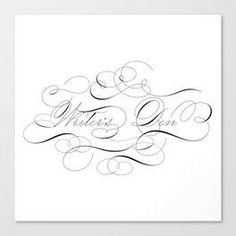 Writer's Den Calligraphy Flourish Elegant Canvas Print