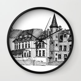 Bruges in Lines Wall Clock