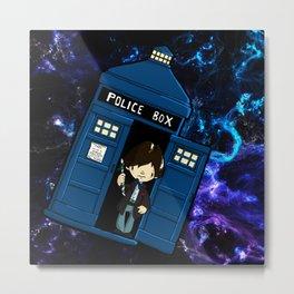 Tardis in space Doctor Who 2 Metal Print