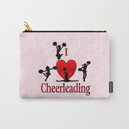 I Heart Cheerleading Carry-All Pouch