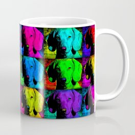 Colorful Pop Art Dachshund Doxie Face Closeup Tiled Image Coffee Mug