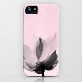 Lotus Flower | Pink Background iPhone Case