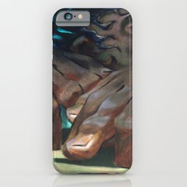 Classical Masterpiece 'The Drummer' by Charlot Jean iPhone Case
