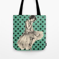 pinup Tote Bags featuring Pinup by Jemma Cakebread