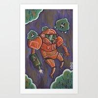 samus Art Prints featuring Samus by Matt Sinor