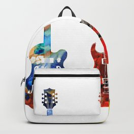 Guitar Threesome - Colorful Guitars By Sharon Cummings Backpack