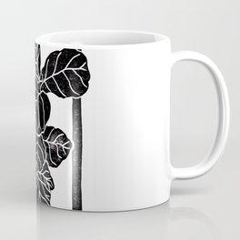 Fiddle Leaf Fig Block Print Coffee Mug