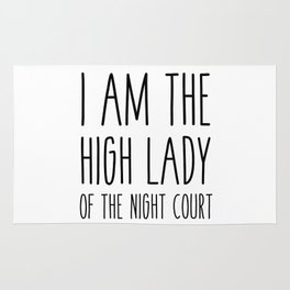 high lady of the night court (acomaf) Rug