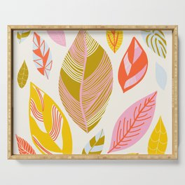 Timberlee, modern autumn leaves Serving Tray