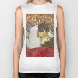 """Henri de Toulouse-Lautrec """"In Bed. The Kiss"""" Biker Tank"""