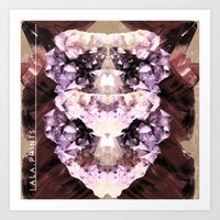 minerals Art Prints featuring Mira Minerals by lalaprints