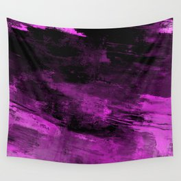 Purple Haze - Abstract, purple and black painting Wall Tapestry