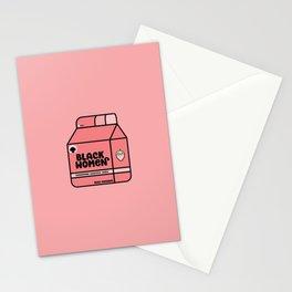 Black Women - Strawberry Stationery Cards