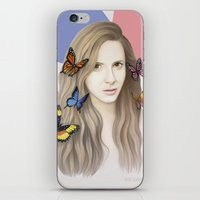 karen hallion iPhone & iPod Skins featuring Karen by Anya Timofeeva