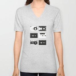 Cassette Pattern #4 Unisex V-Neck