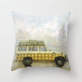 Plaid Land Cruiser Throw Pillow