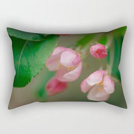 Apple Tree Blossoms Art Series Rectangular Pillow