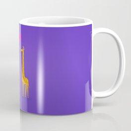 Cute cartoon giraffe couple in Love (Purple Edition) Coffee Mug