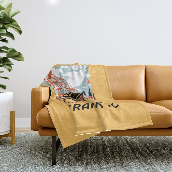 Enjoy San Fransokyo Throw Blanket
