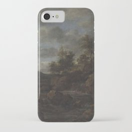 Jacob van Ruisdael - Rocky Landscape with Waterfall iPhone Case